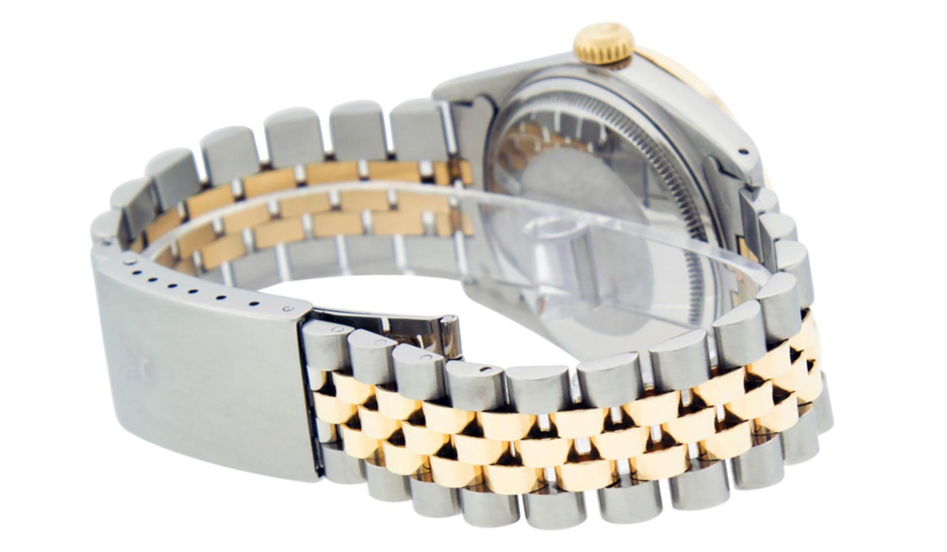 Rolex Mens 2 Tone Champagne Diamond 36MM Datejust Wriswatch - Image 5 of 9