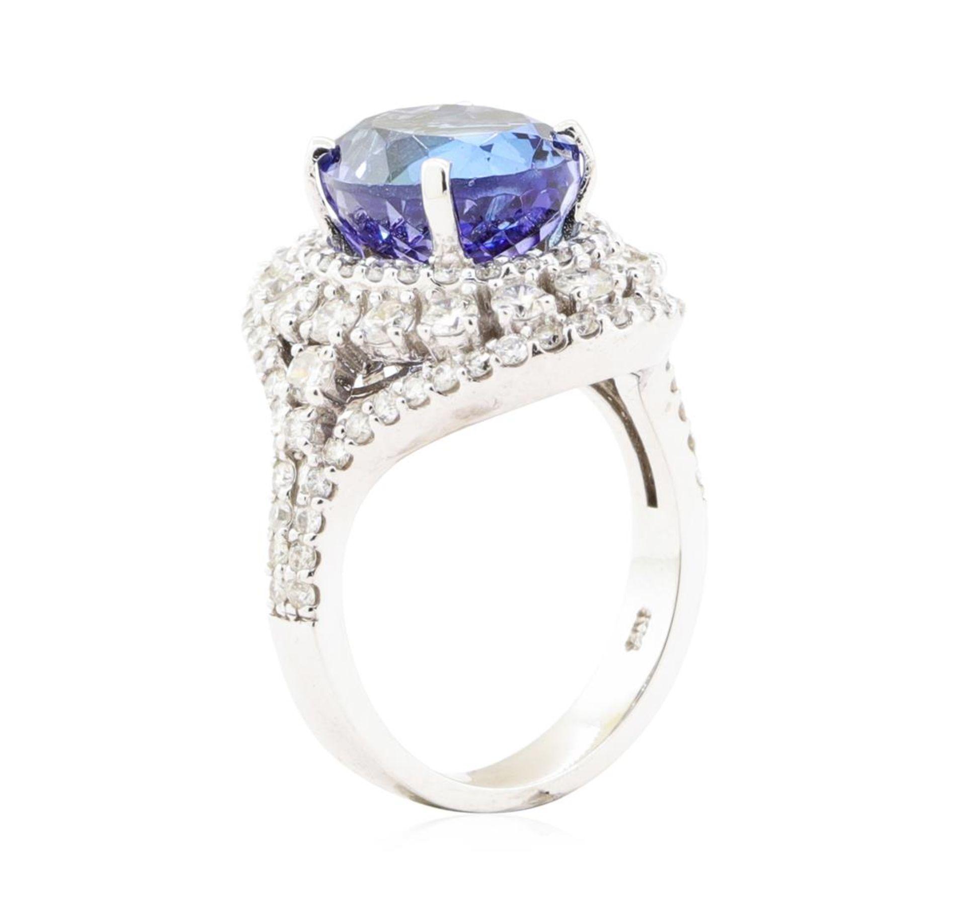 7.72 ctw Tanzanite And Diamond Ring - 14KT White Gold - Image 4 of 5