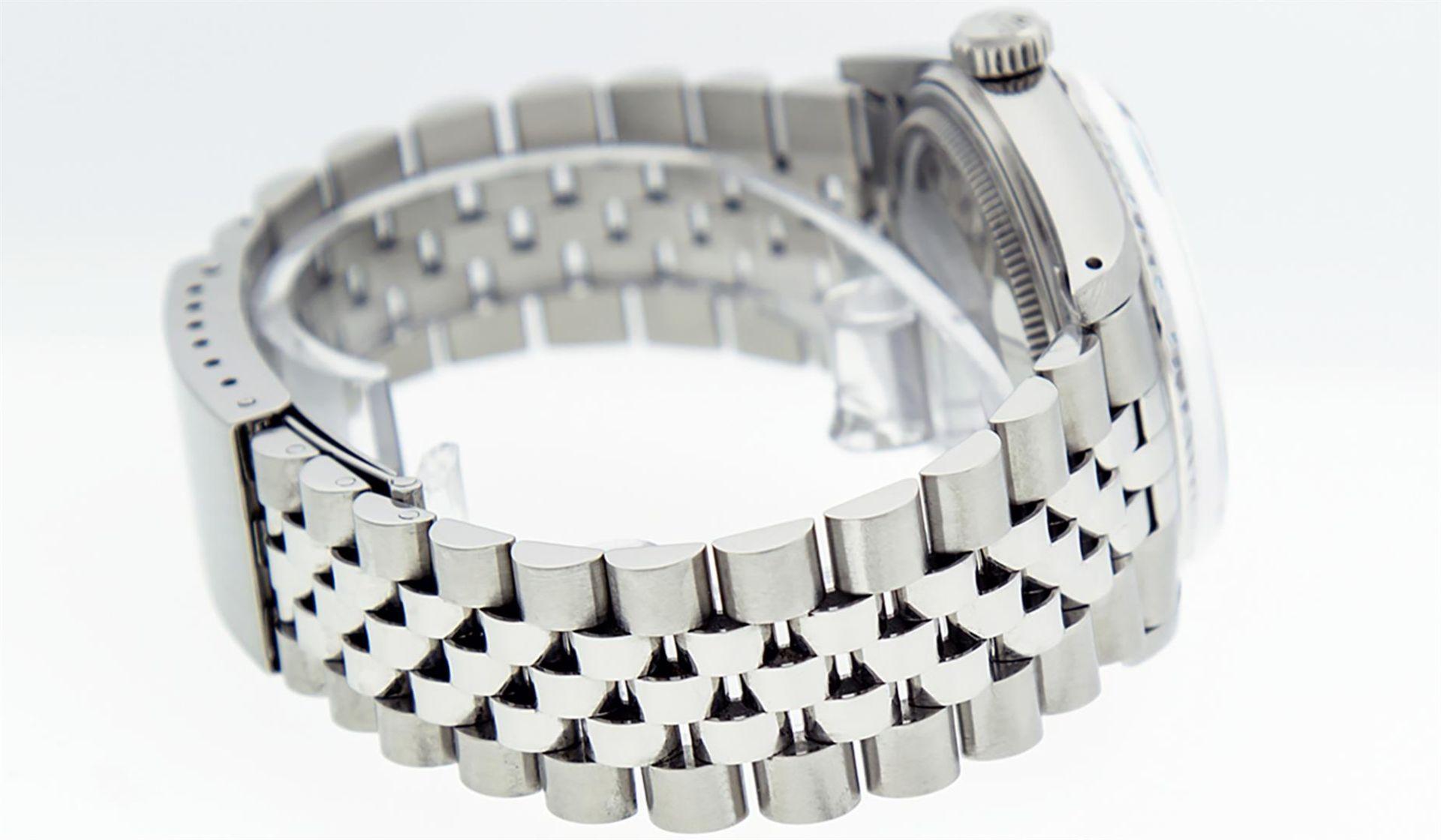 Rolex Mens Stainless Steel Ice Blue Diamond Datejust Wristwatch - Image 5 of 9