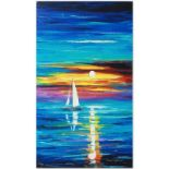 """Leonid Afremov (1955-2019) """"Reflection"""" Limited Edition Giclee on Canvas, Number"""