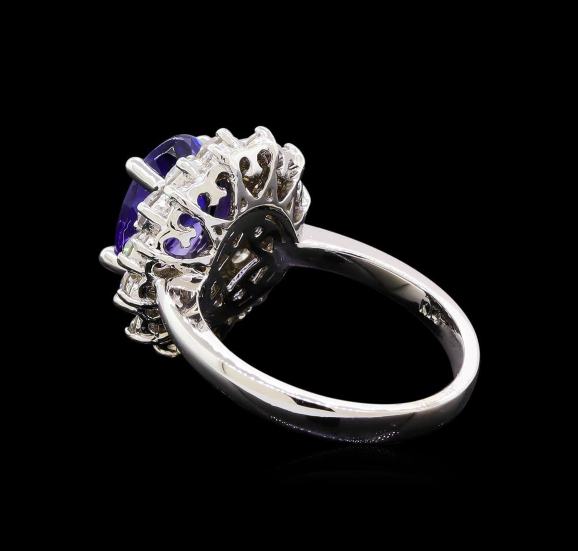 3.23 ctw Tanzanite and Diamond Ring - 14KT White Gold - Image 3 of 5