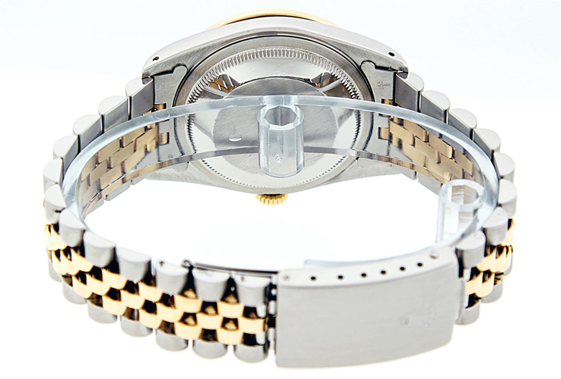 Rolex Mens 2 Tone Blue Vignette Diamond & Sapphire Datejust Wristwatch - Image 9 of 9