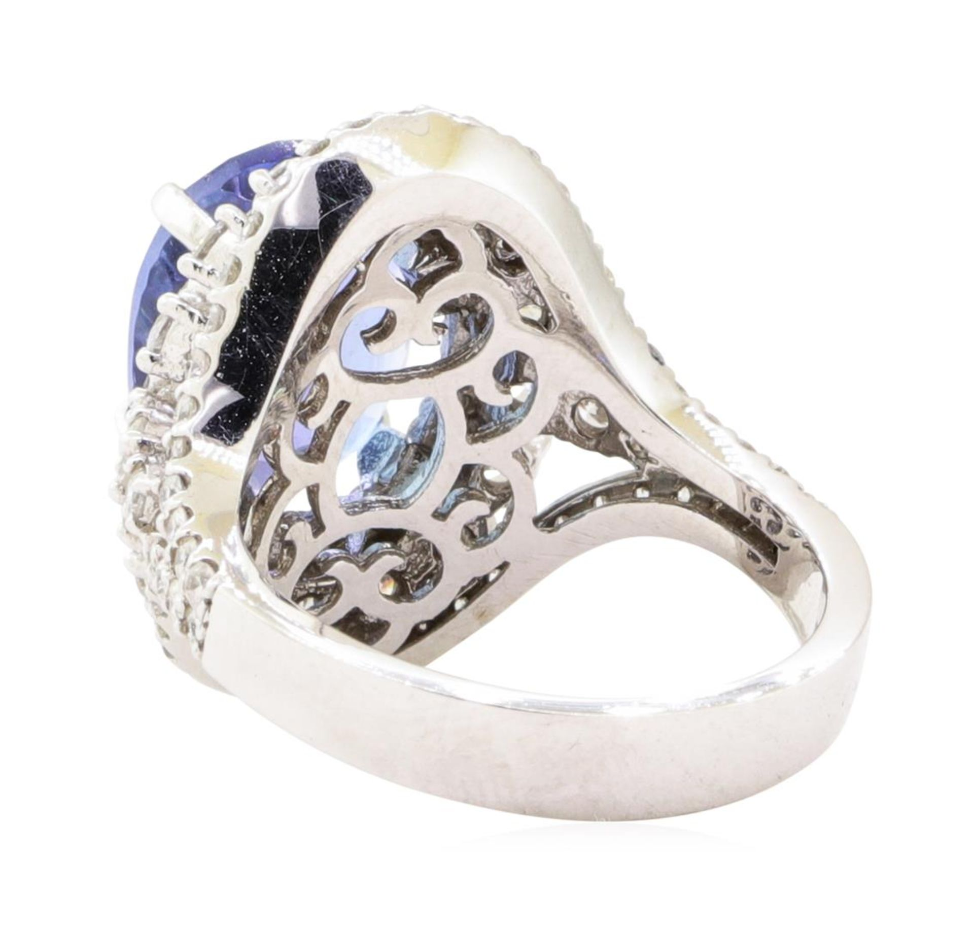 7.72 ctw Tanzanite And Diamond Ring - 14KT White Gold - Image 3 of 5
