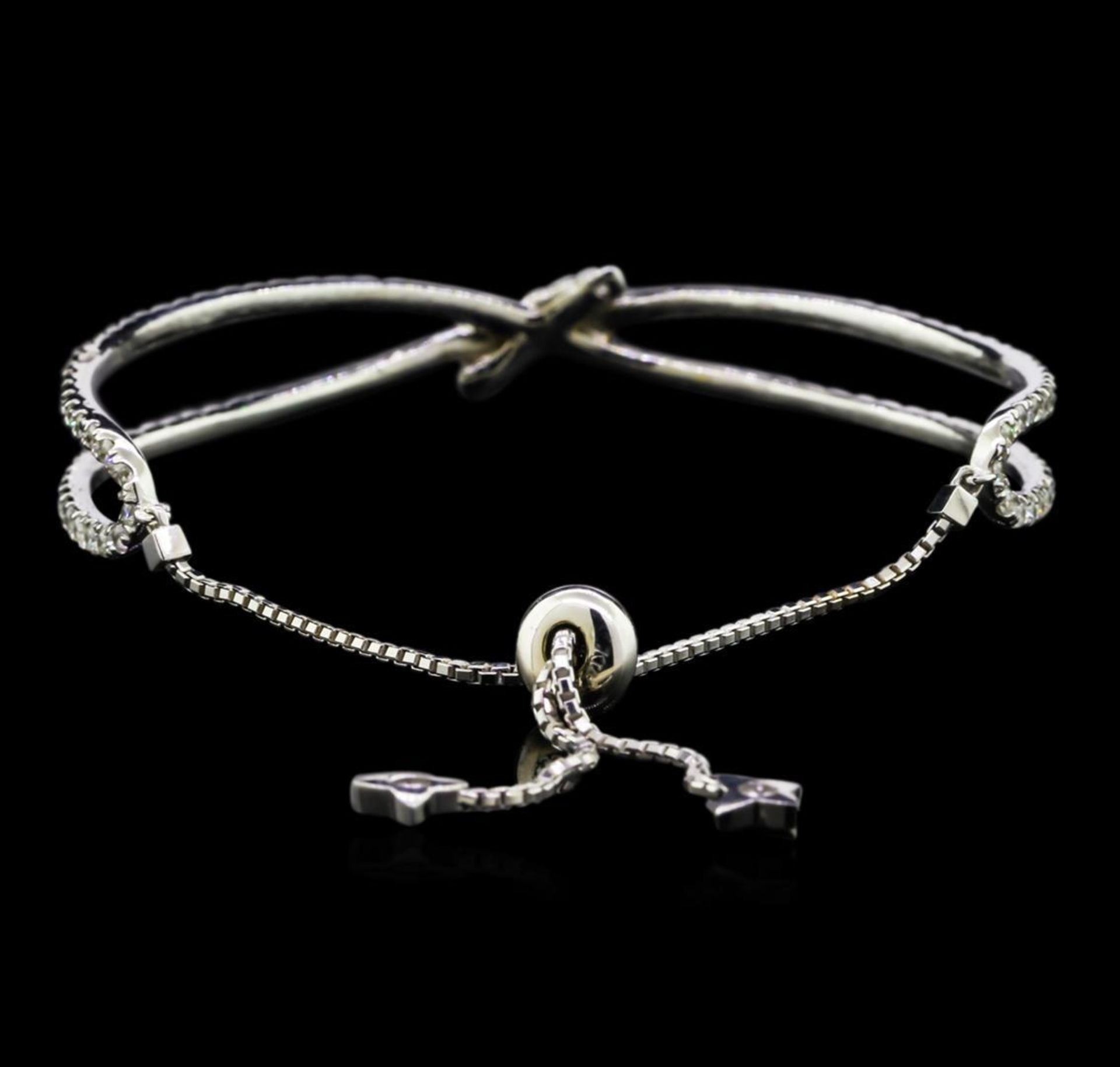 2.55 ctw Diamond Bangle Bracelet - 14KT White Gold - Image 2 of 3