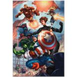 "Marvel Comics ""Avengers #84"" Numbered Limited Edition Giclee on Canvas by Scott"