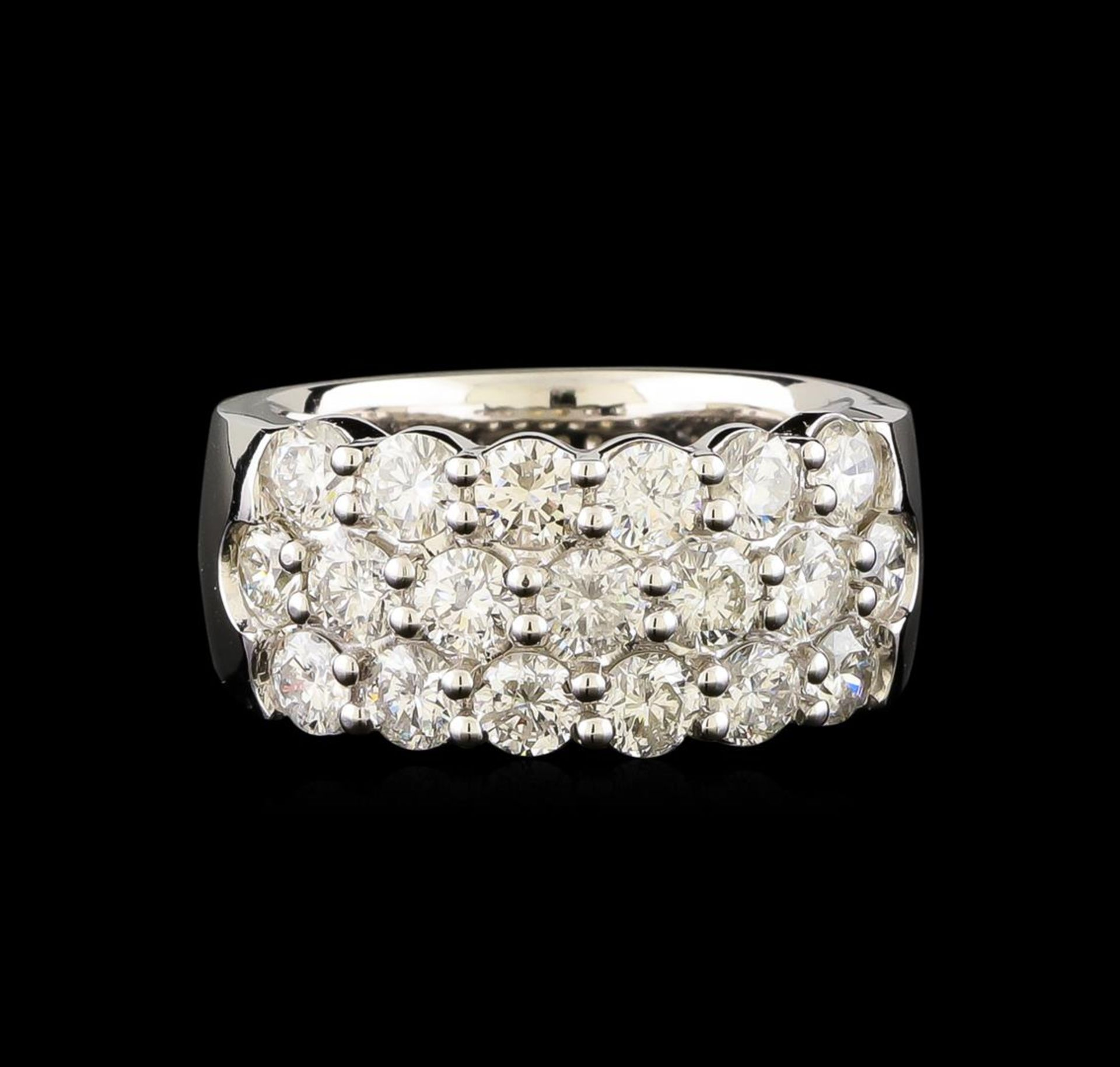 14KT White Gold 2.98 ctw Diamond Ring - Image 2 of 5