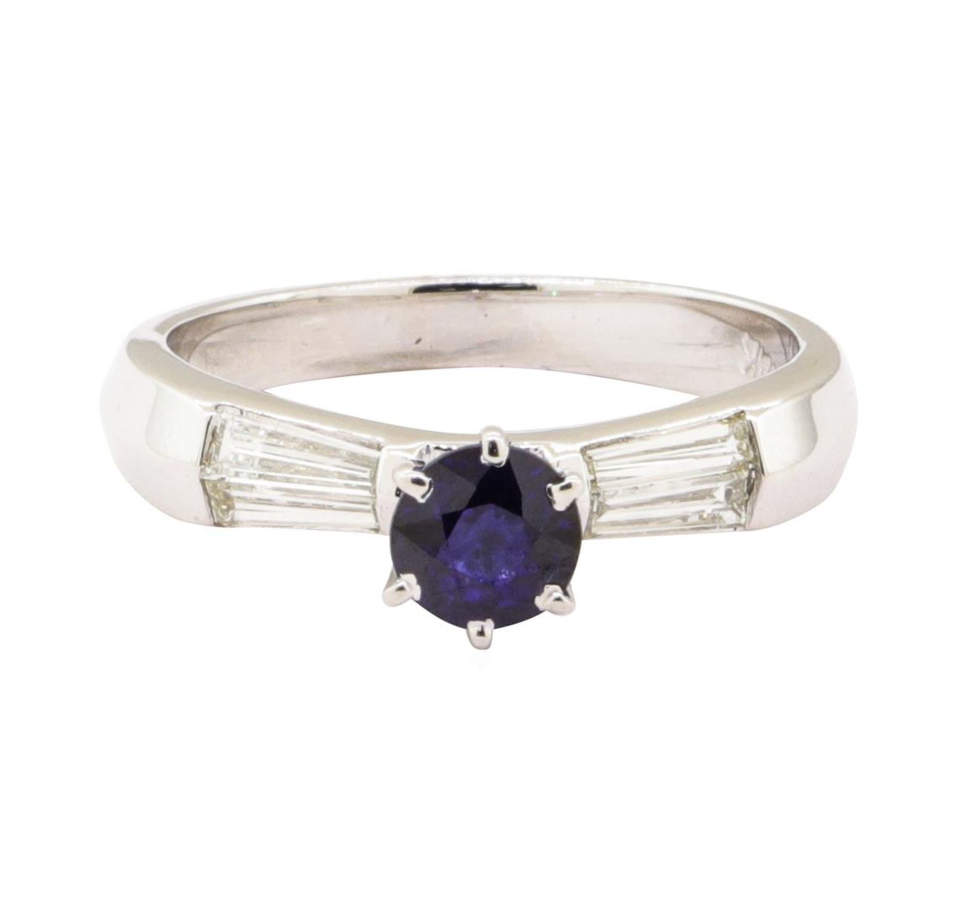 1.15 ctw Blue Sapphire And Diamond Ring - 18KT White Gold - Image 2 of 5