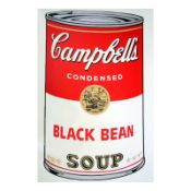 "Andy Warhol ""Soup Can 11.44 (Black Bean)"" Silk Screen Print from Sunday B Mornin"