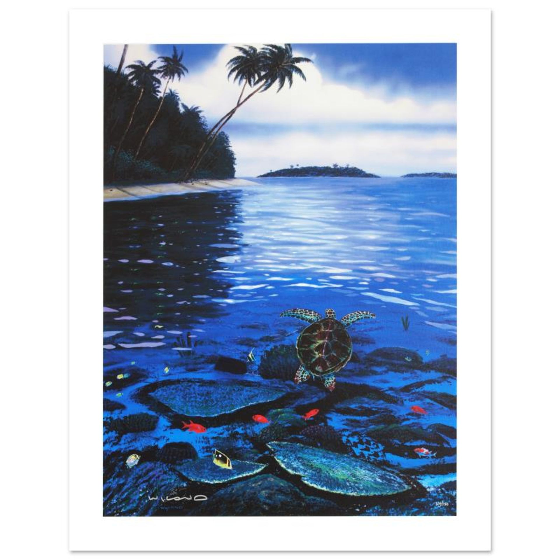 """""""Two Worlds of Paradise"""" Limited Edition Giclee on Canvas by Renowned Artist Wyl"""