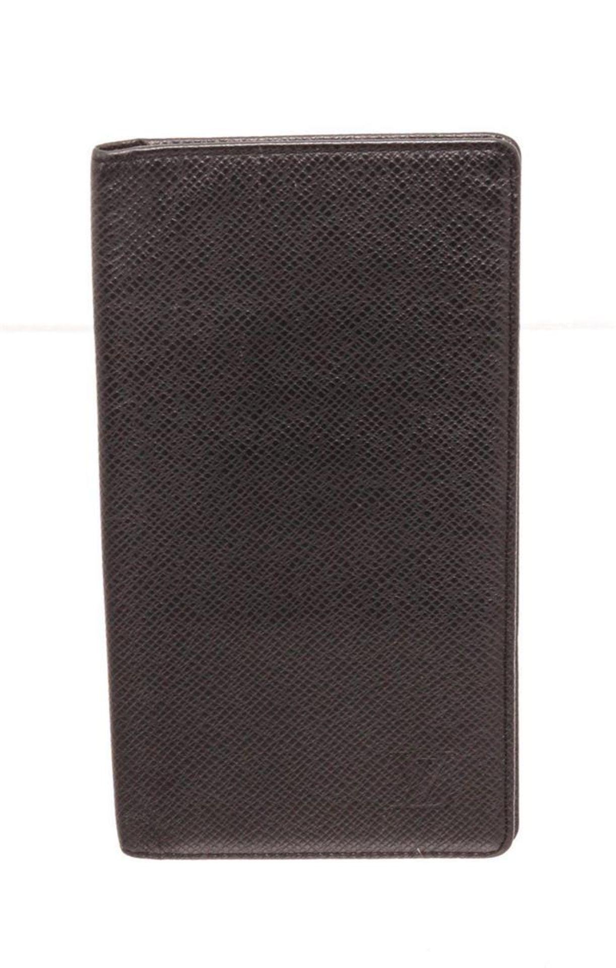 Louis Vuitton Black Monogram Long Card Wallet