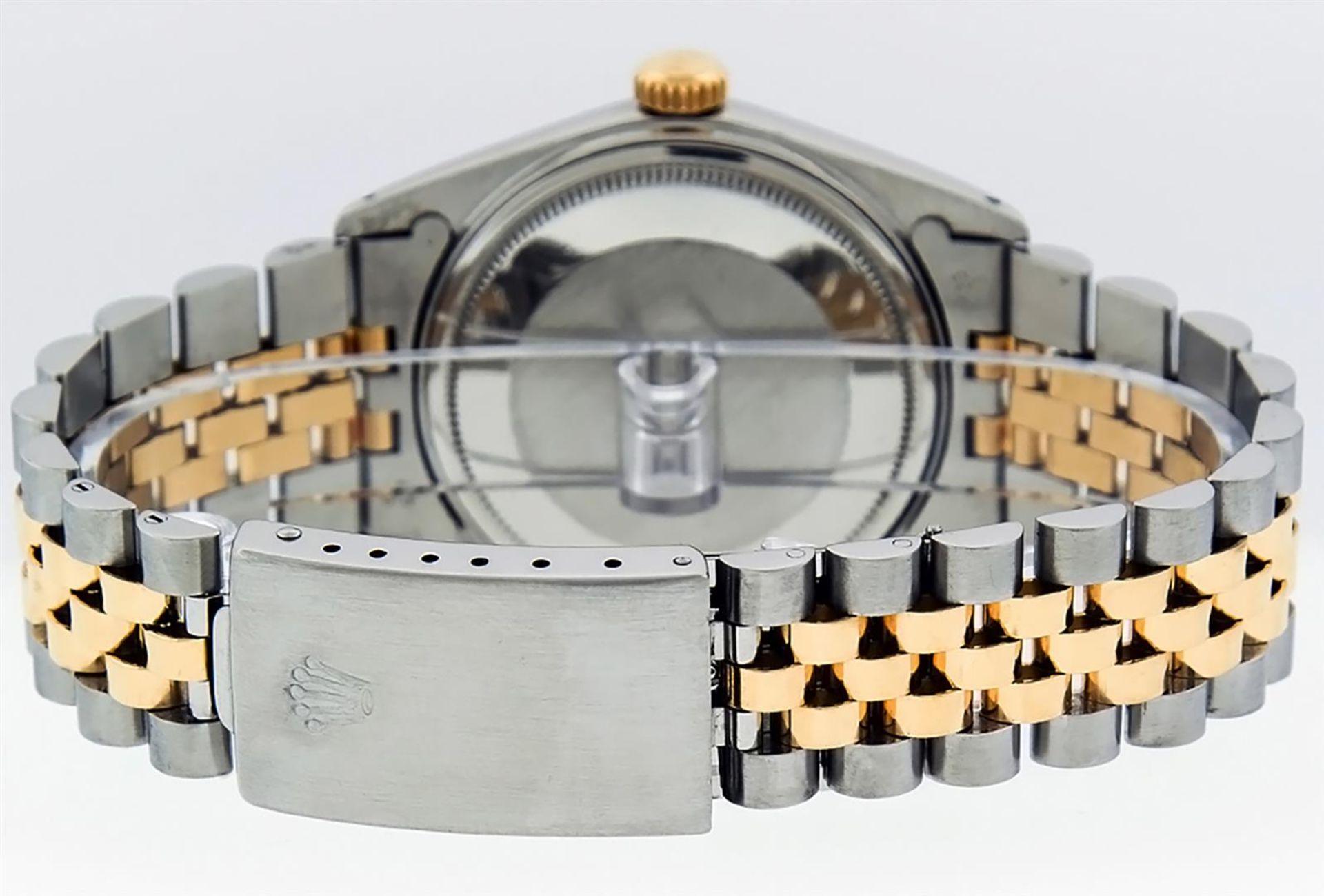 Rolex Mens 2 Tone Black Diamond 36MM Datejust Wristwatch - Image 4 of 9