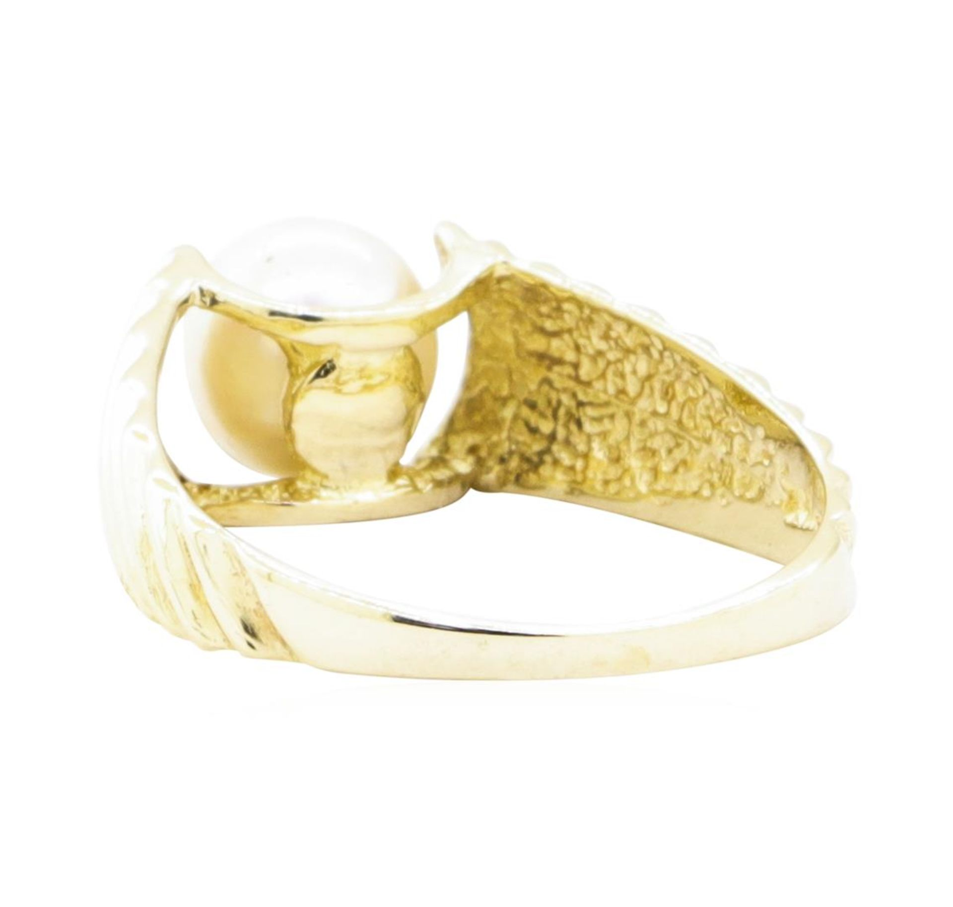 7mm Cultured Pearl Ring - 14KT Yellow Gold - Image 3 of 4