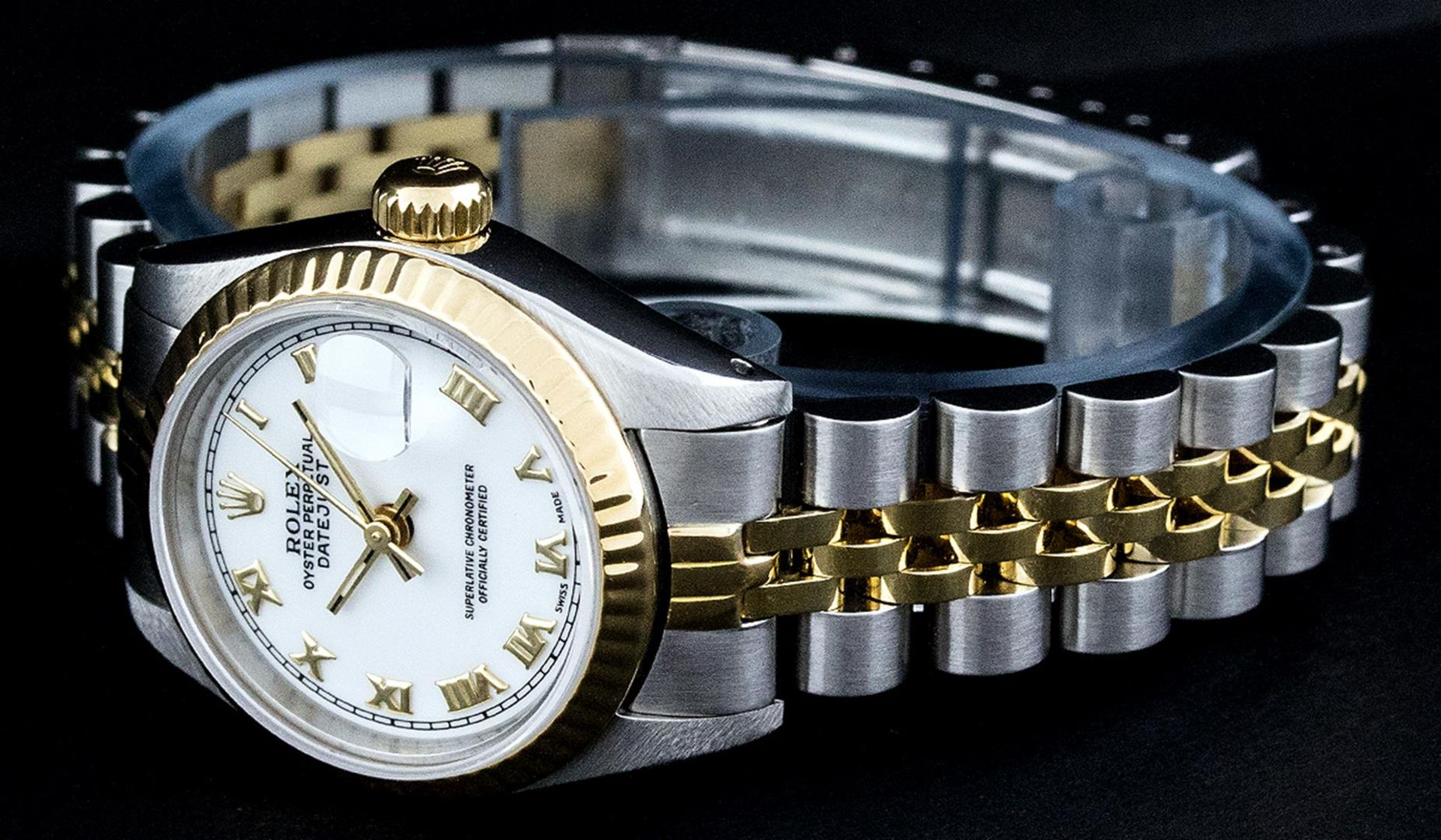 Rolex Ladies 2 Tone Yellow Gold & Stainless Steel White Roman 26MM Datejust - Image 8 of 9