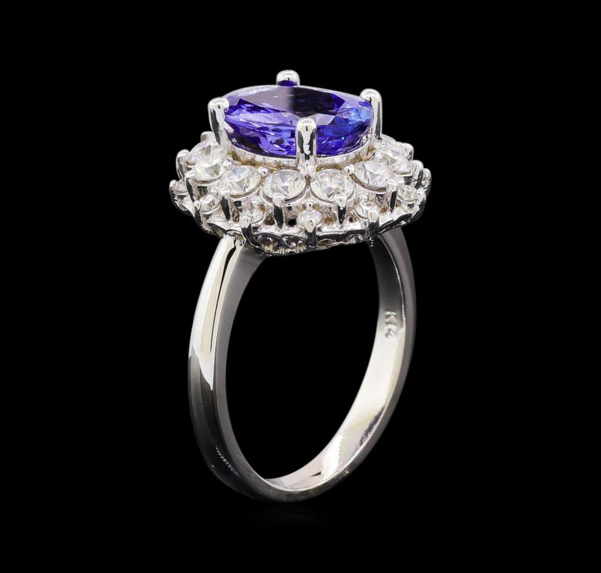 3.23 ctw Tanzanite and Diamond Ring - 14KT White Gold - Image 4 of 5