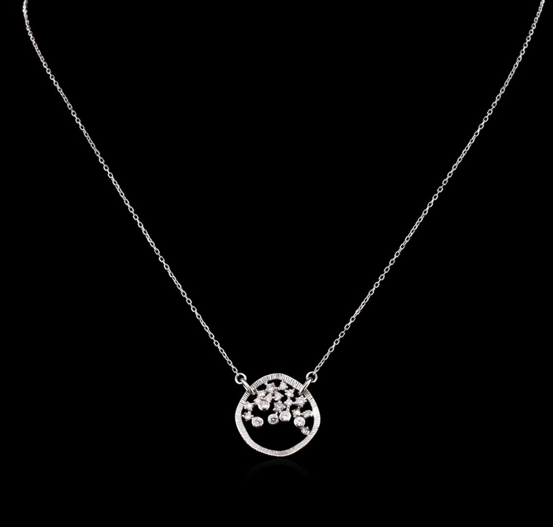 0.34 ctw Diamond Necklace - 14KT White Gold - Image 2 of 2