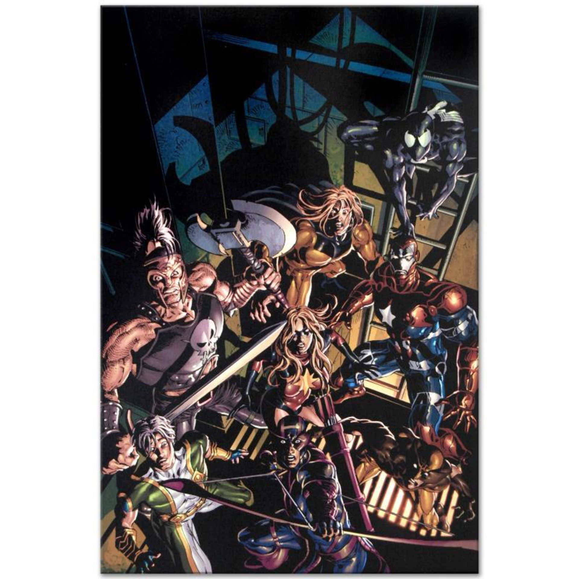 """Marvel Comics """"Dark Avengers #10"""" Numbered Limited Edition Giclee on Canvas by M"""