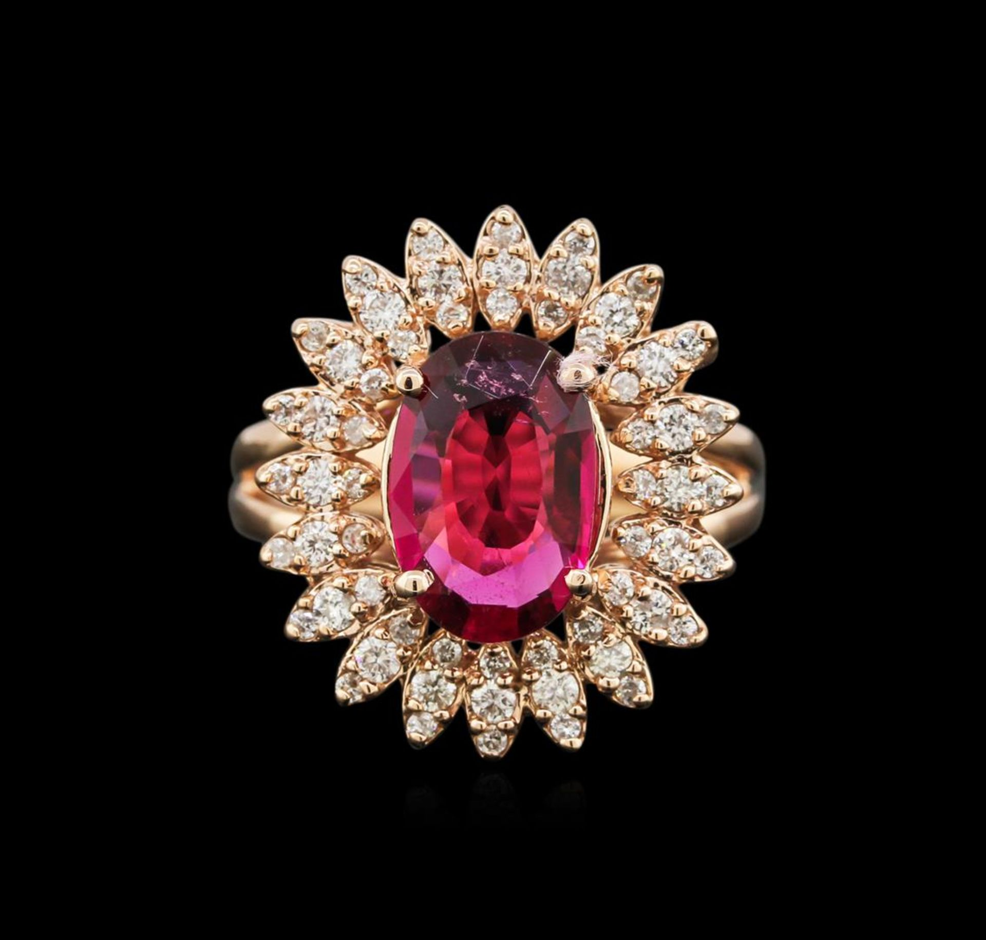 1.99 ctw Ruby and Diamond Ring - 14KT Rose Gold - Image 2 of 3