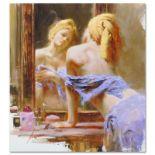 """Pino (1939-2010), """"Morning Reflections"""" Artist Embellished Limited Edition on Ca"""