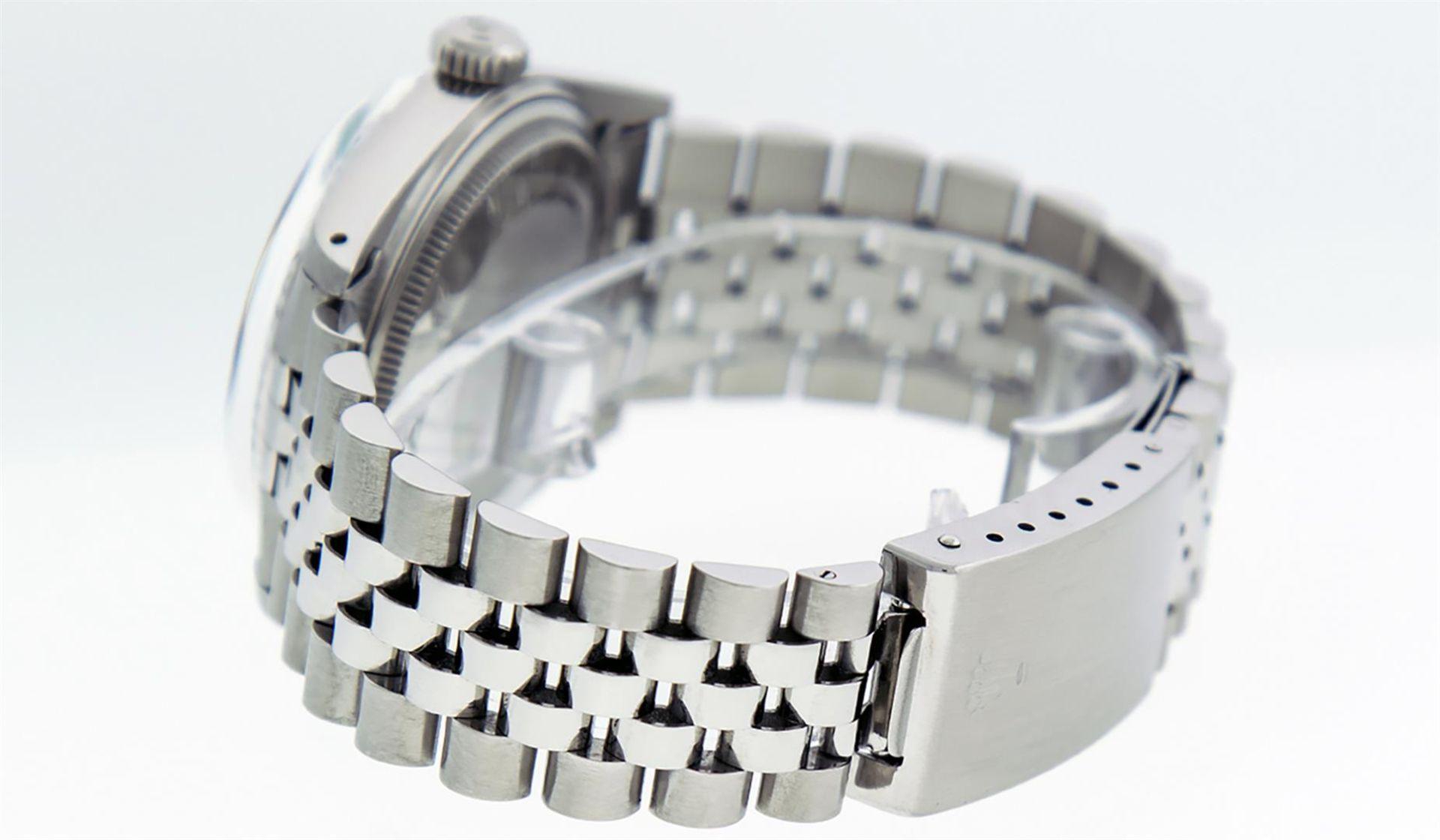 Rolex Mens Stainless Steel Ice Blue Diamond Datejust Wristwatch - Image 9 of 9
