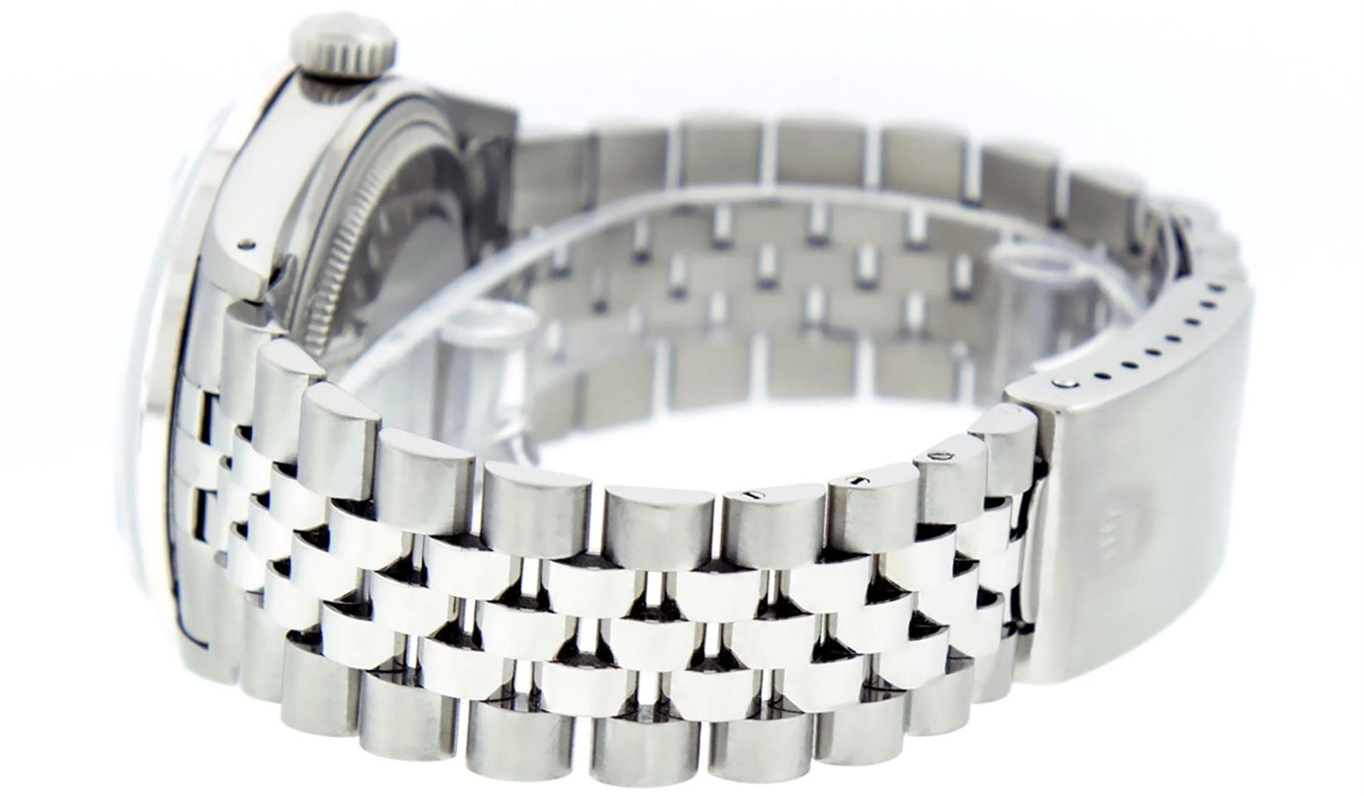 Rolex Mens Stainless Black Diamond 36MM Datejust Wristwatch - Image 8 of 9