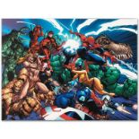"Marvel Comics ""Marvel Comics Presents #1"" Numbered Limited Edition Giclee on Can"