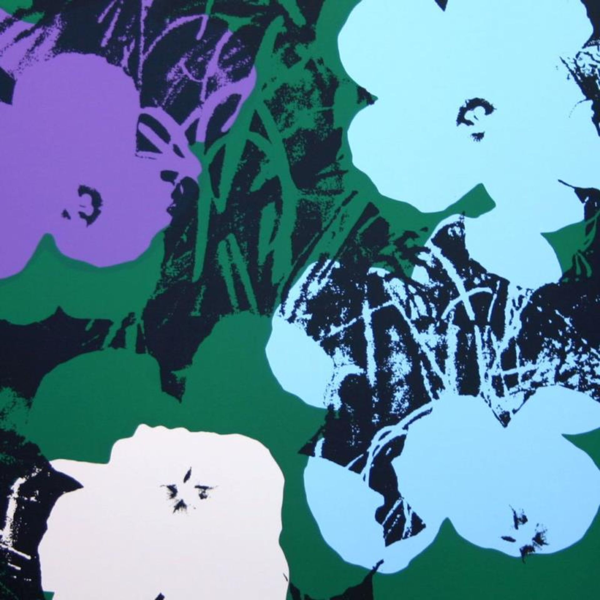 "Andy Warhol ""Flowers 11.64"" Silk Screen Print from Sunday B Morning. - Image 2 of 2"