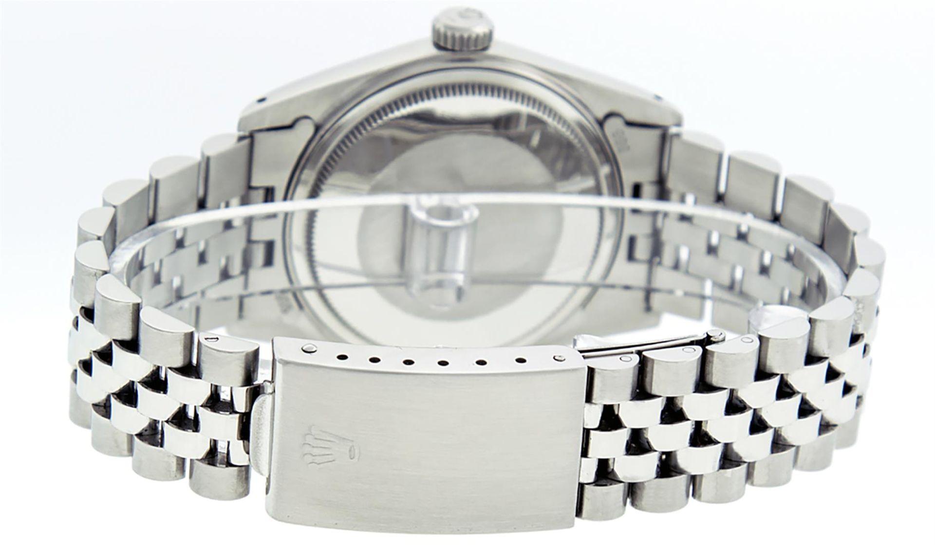 Rolex Mens Stainless Steel Ice Blue Diamond Datejust Wristwatch - Image 7 of 9