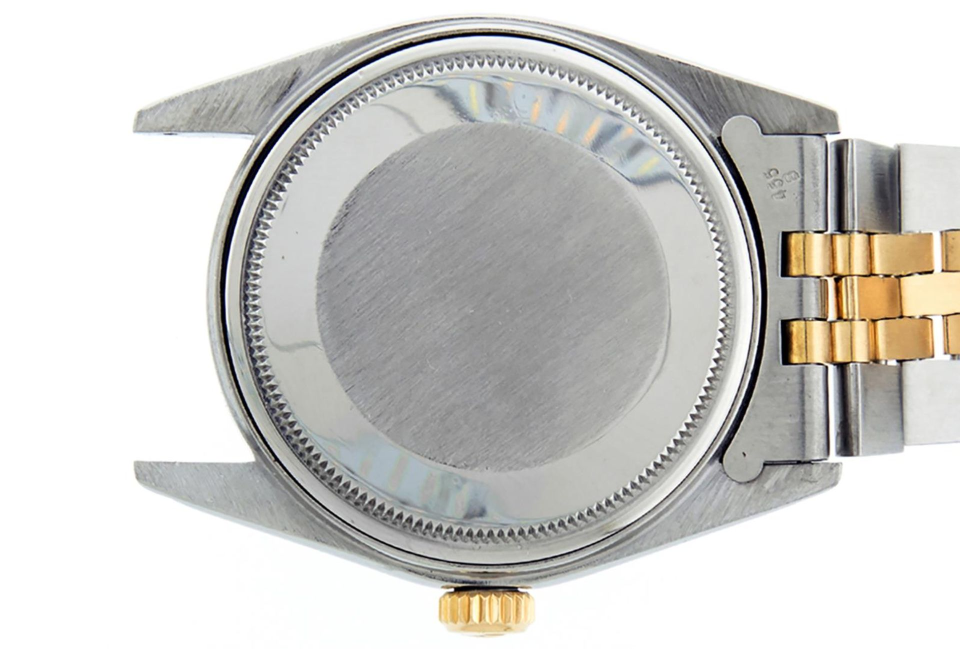 Rolex Mens 2 Tone Black Diamond 36MM Datejust Wristwatch - Image 8 of 9