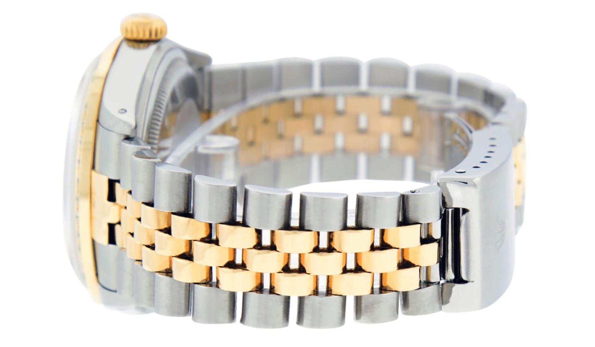 Rolex Mens 2 Tone Champagne Diamond 36MM Datejust Wriswatch - Image 8 of 9