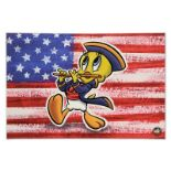 "Looney Tunes, ""Patriotic Series: Tweety"" Numbered Limited Edition on Canvas with"