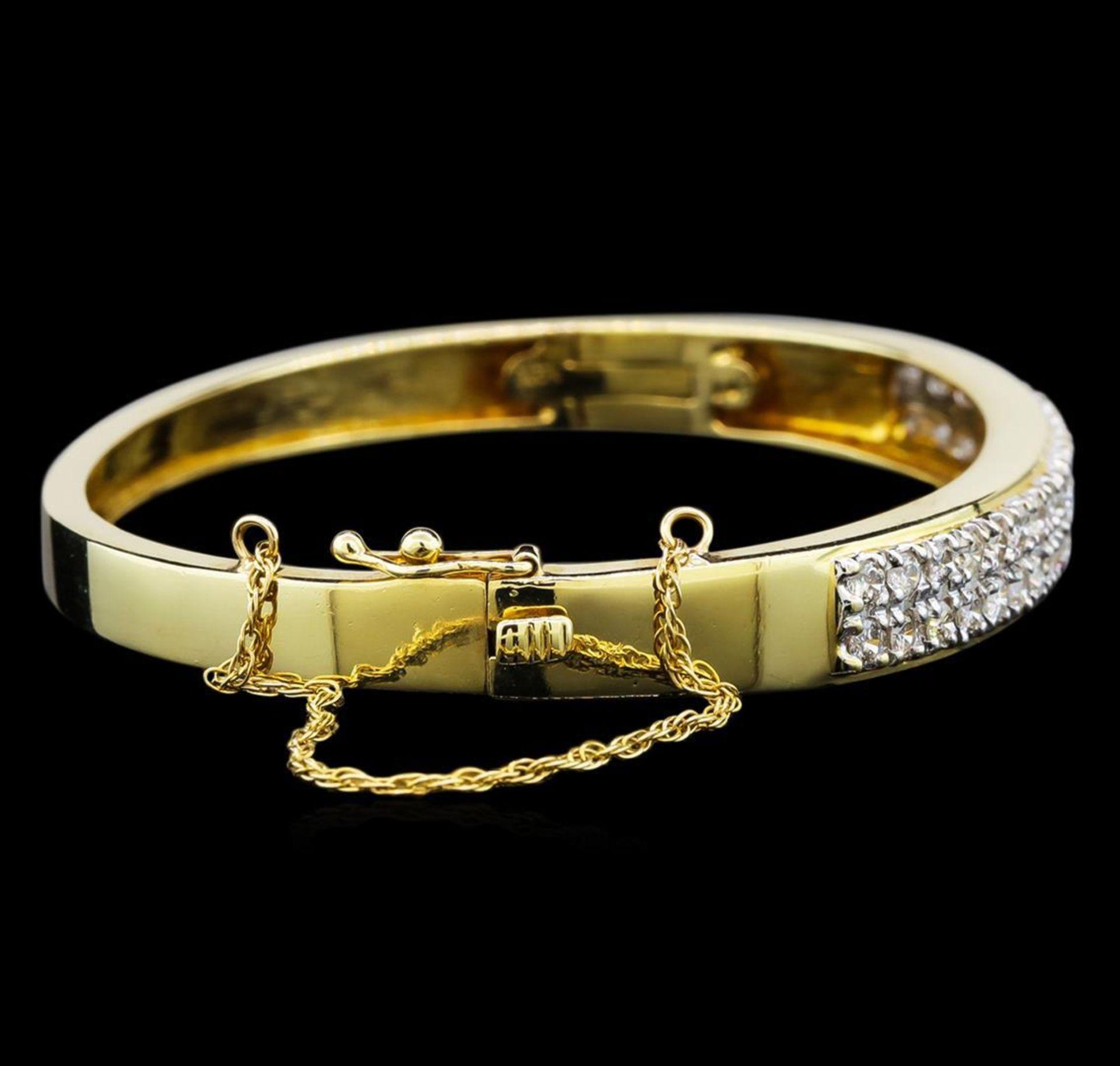14KT Yellow Gold 2.28 ctw Diamond Bracelet - Image 2 of 4