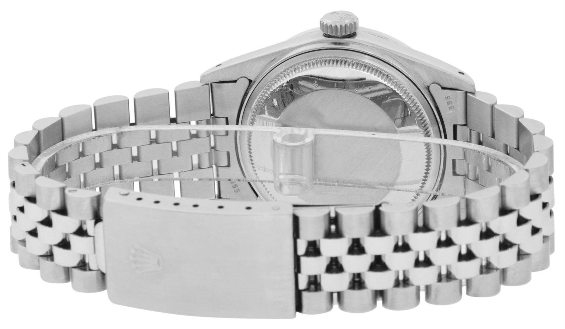 Rolex Mens Stainless Steel Black Diamond Lugs & Sapphire Datejust Wristwatch Oys - Image 7 of 9