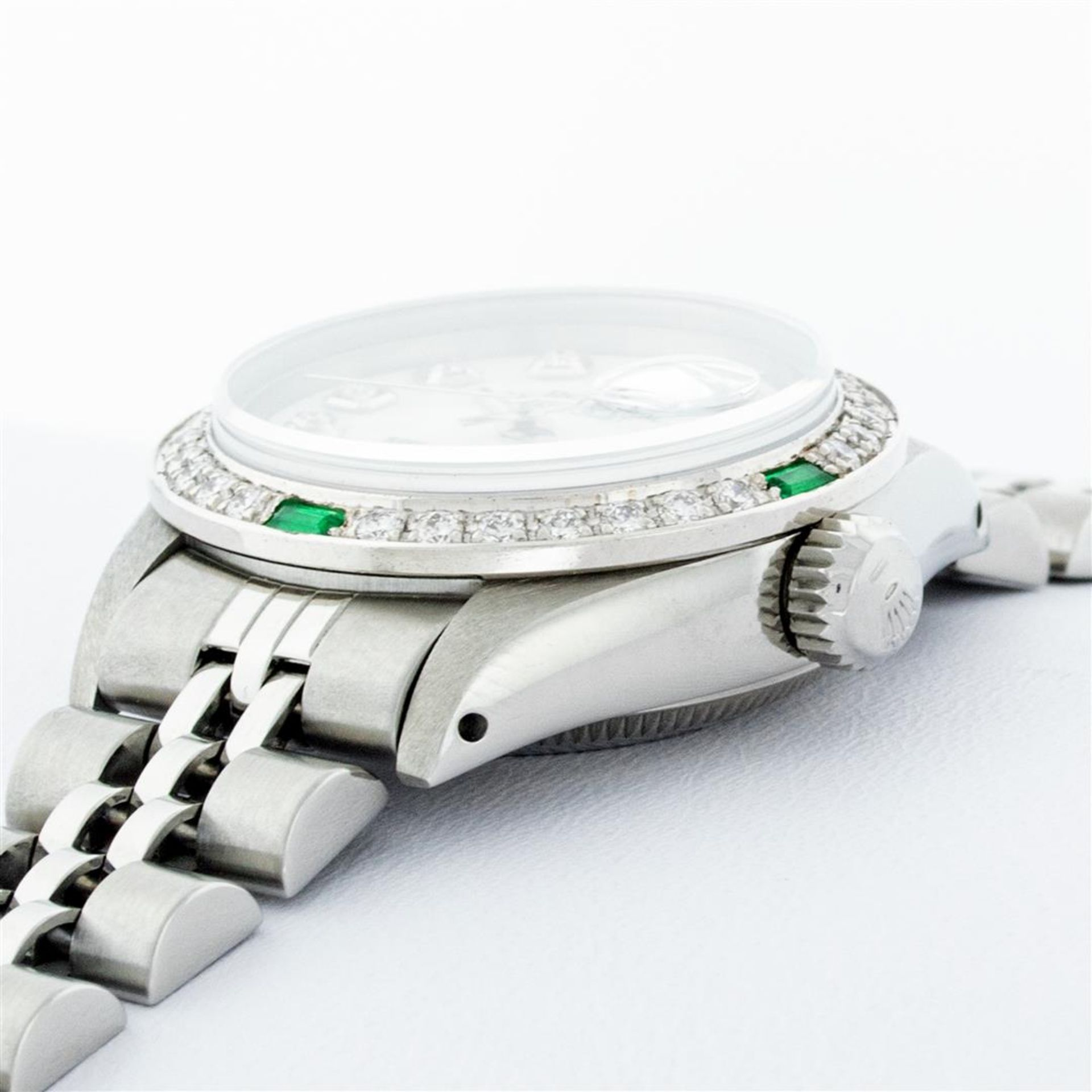 Rolex Ladies Stainless Steel Mother Of Pearl Diamond 26MM Datejust Wristwatch - Image 9 of 9