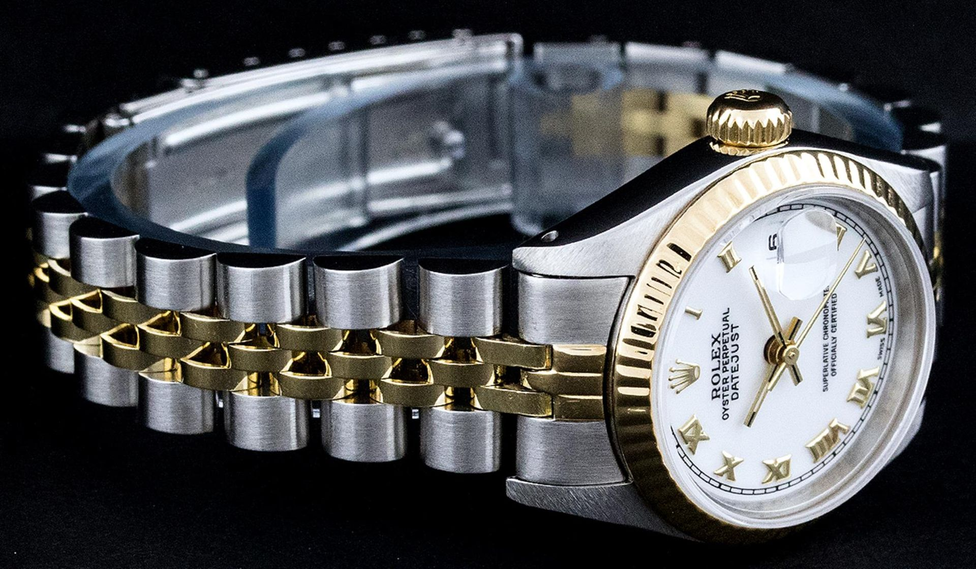Rolex Ladies 2 Tone Yellow Gold & Stainless Steel White Roman 26MM Datejust - Image 3 of 9