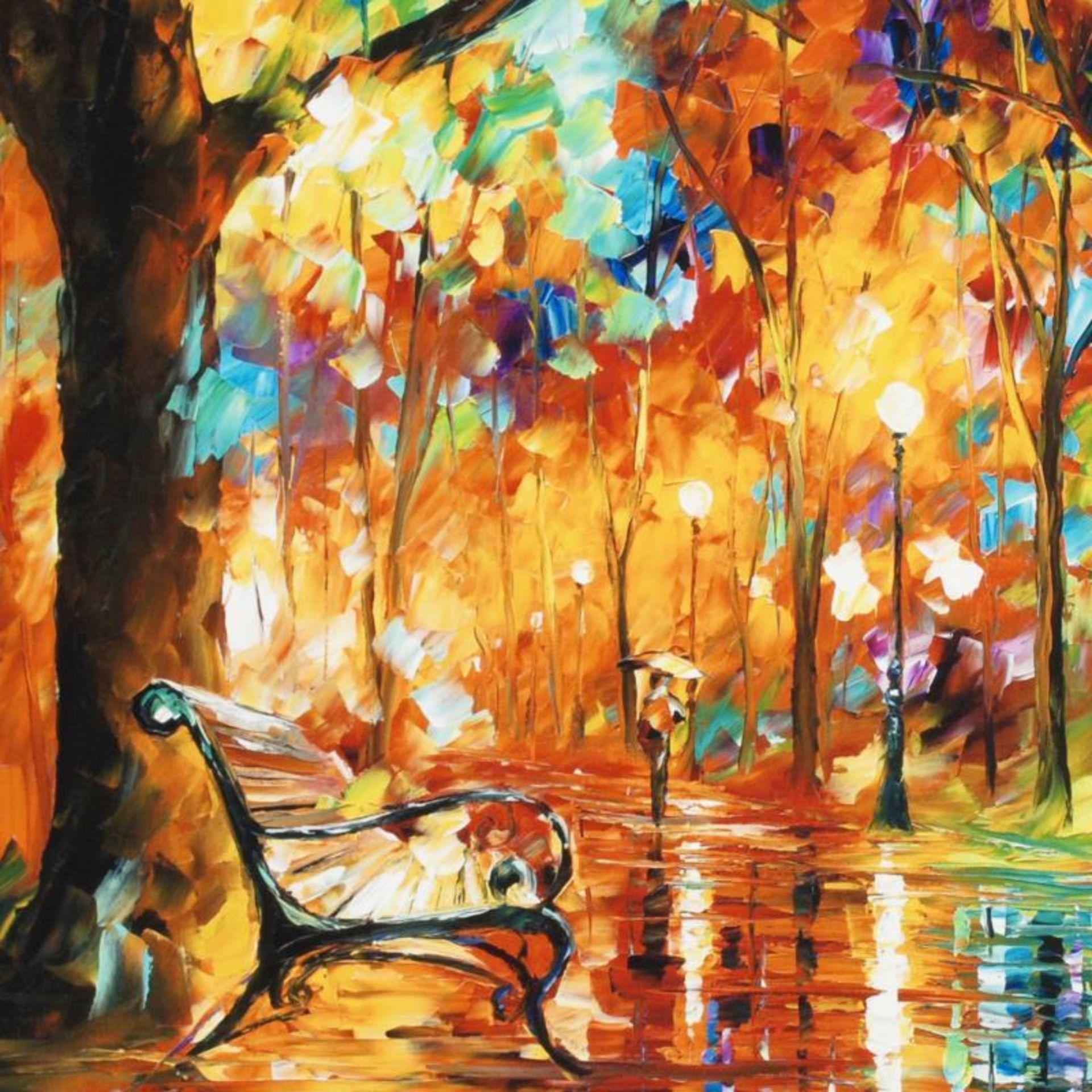 "Leonid Afremov (1955-2019) ""Burst of Autumn"" Limited Edition Giclee on Canvas, N - Image 2 of 3"