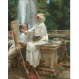 Sargent - The Fountain in Villa Torlonia Italy