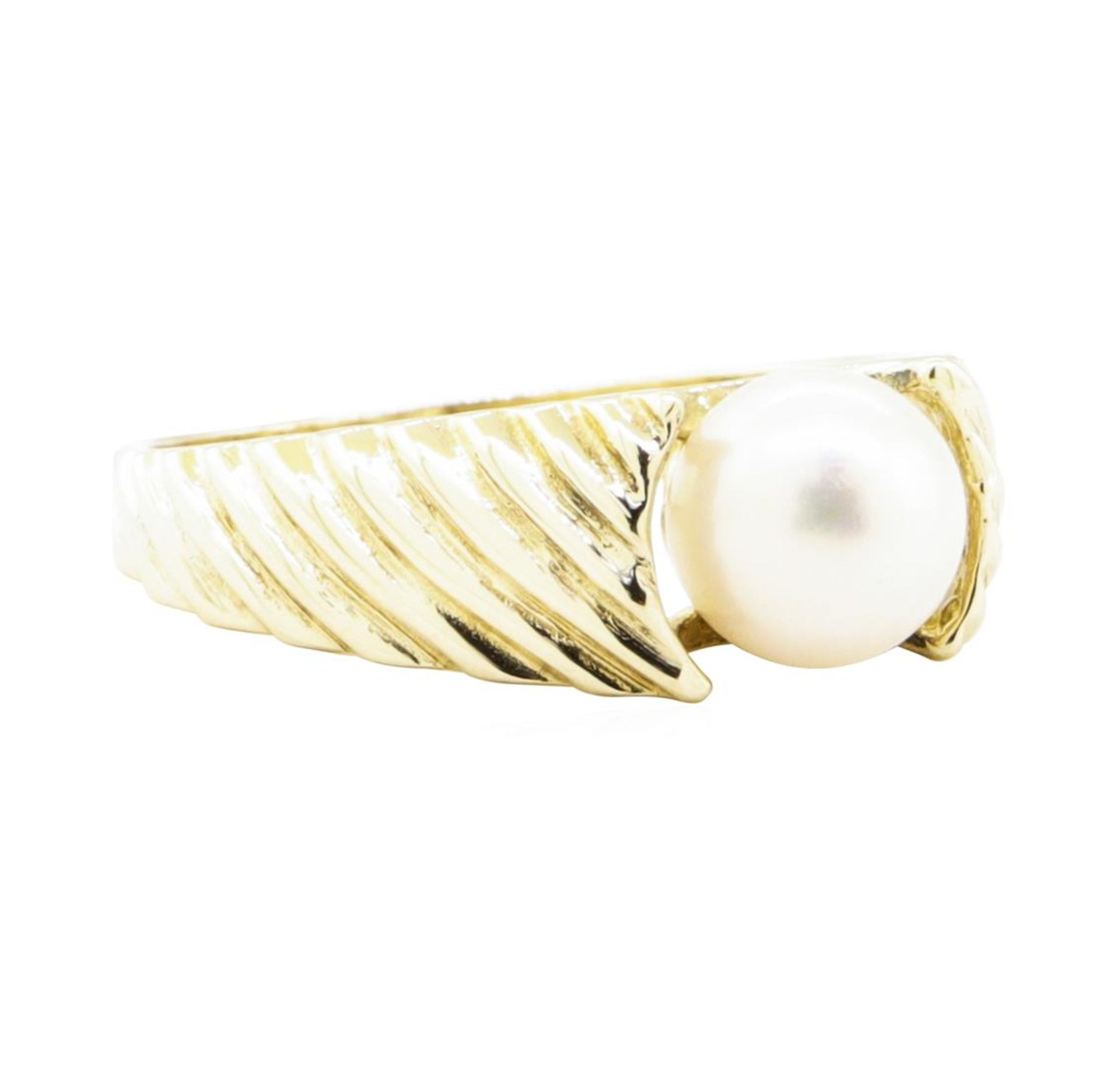 7mm Cultured Pearl Ring - 14KT Yellow Gold
