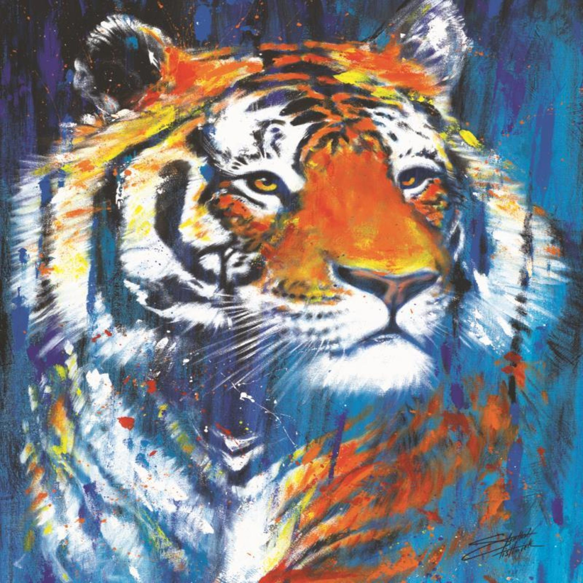 """Nala"" Limited Edition Giclee on Canvas by Stephen Fishwick, Numbered and Signed - Image 2 of 3"
