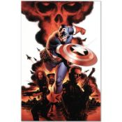 "Marvel Comics ""Captain America #1"" Numbered Limited Edition Giclee on Canvas by"