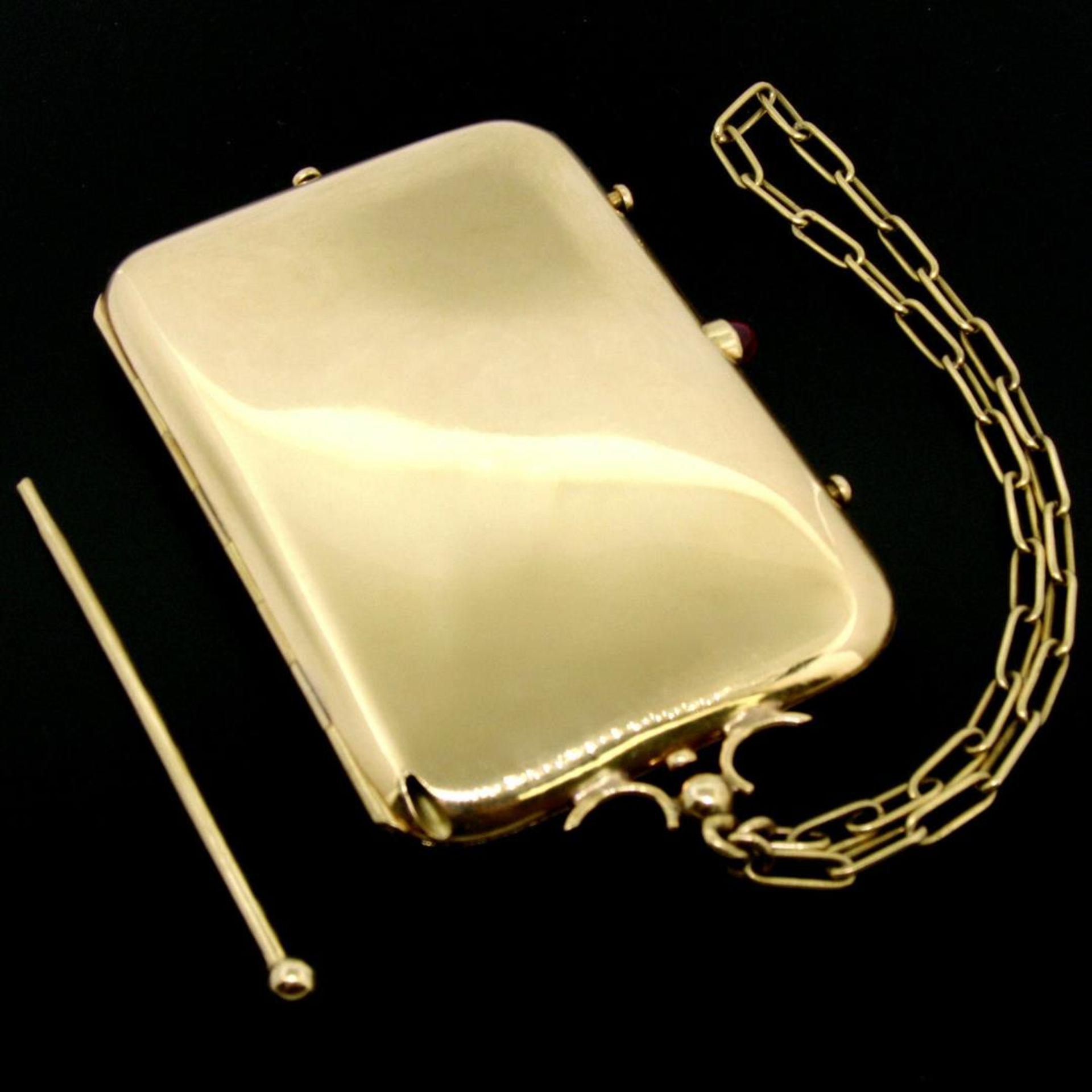 Vintage BOUCHERON Paris 18k Tri Color Gold Ruby Compact Powder Case - Image 9 of 9