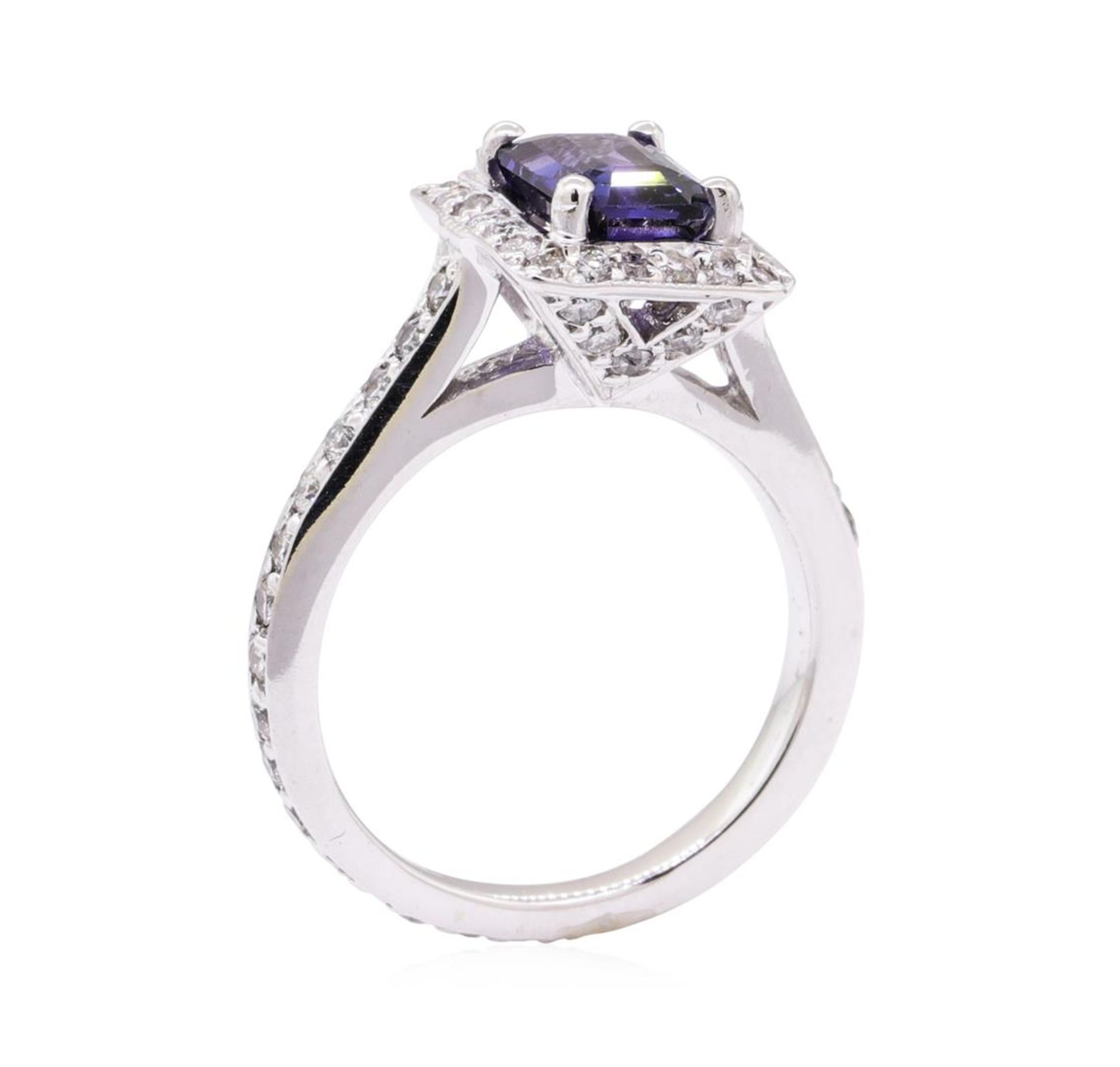 2.21 ctw Blue Sapphire And Diamond Ring - 14KT White Gold - Image 4 of 5