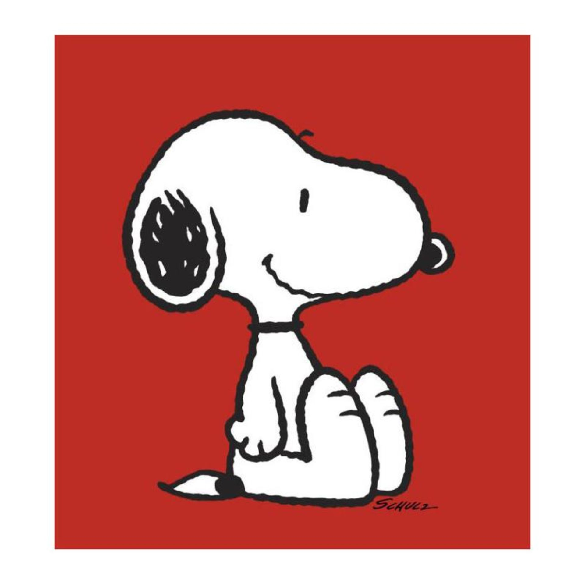 "Peanuts, ""Snoopy: Red"" Hand Numbered Canvas (40""x44"") Limited Edition Fine Art P"