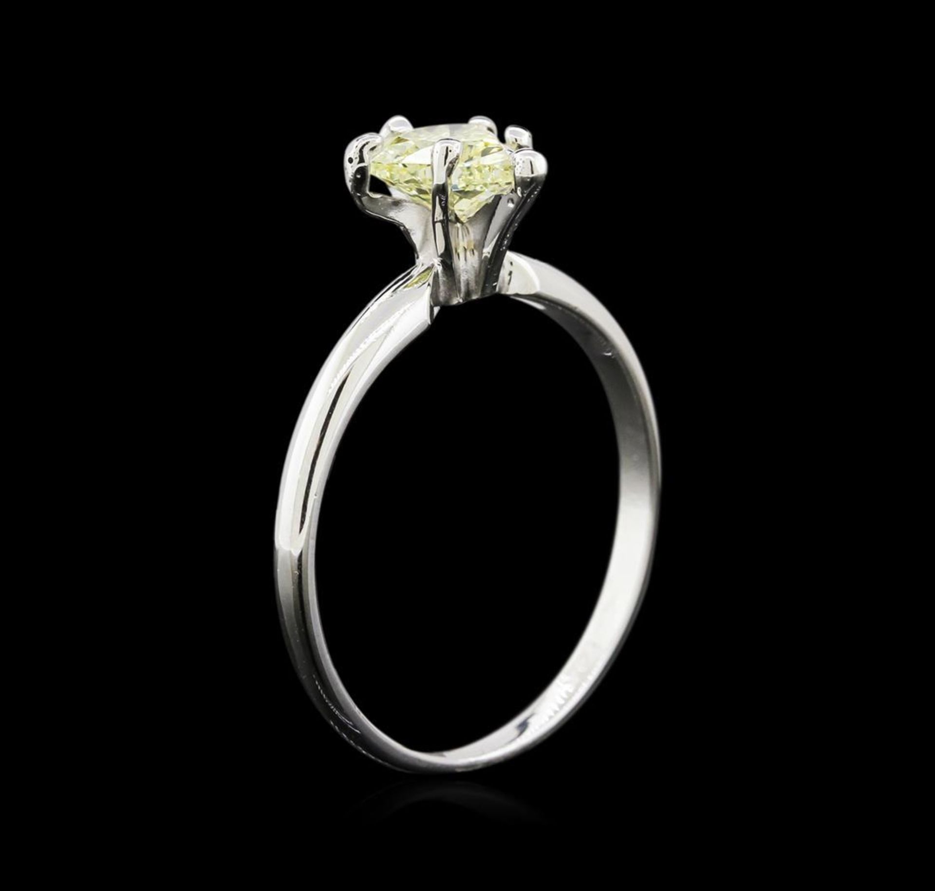 GIA Cert 0.74 ctw Diamond Solitaire Ring - 14KT White Gold - Image 3 of 5
