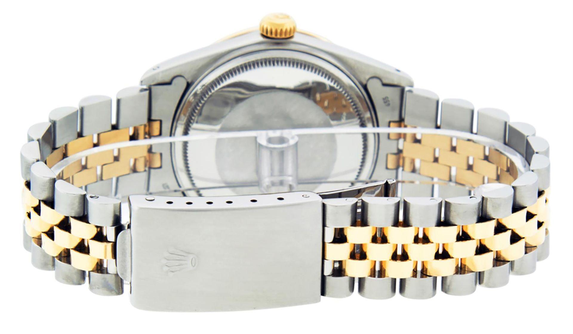 Rolex Mens 2 Tone Champagne Diamond 36MM Datejust Wriswatch - Image 7 of 9