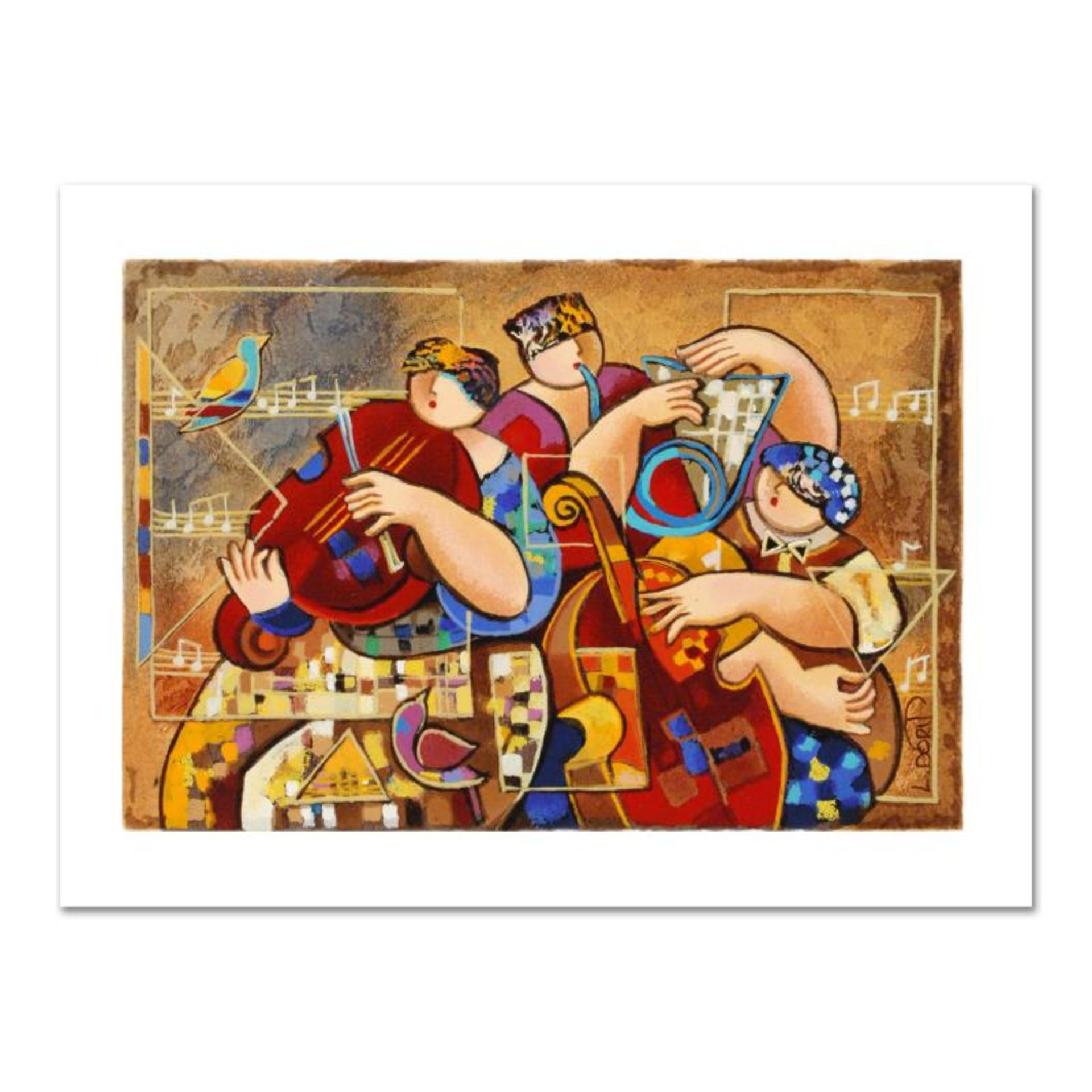 """Dorit Levi, """"Trio Chorus"""" Limited Edition Serigraph, Numbered and Hand Signed wi"""