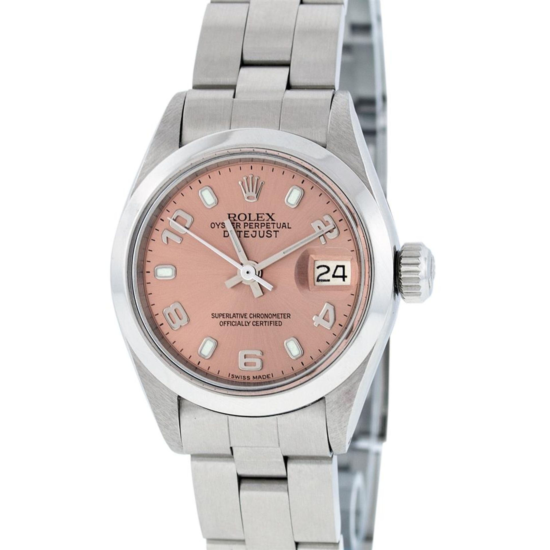 Rolex Ladies Stainless Steel Salmon Dial 26MM Oyster Band Datejust Wristwatch - Image 2 of 9