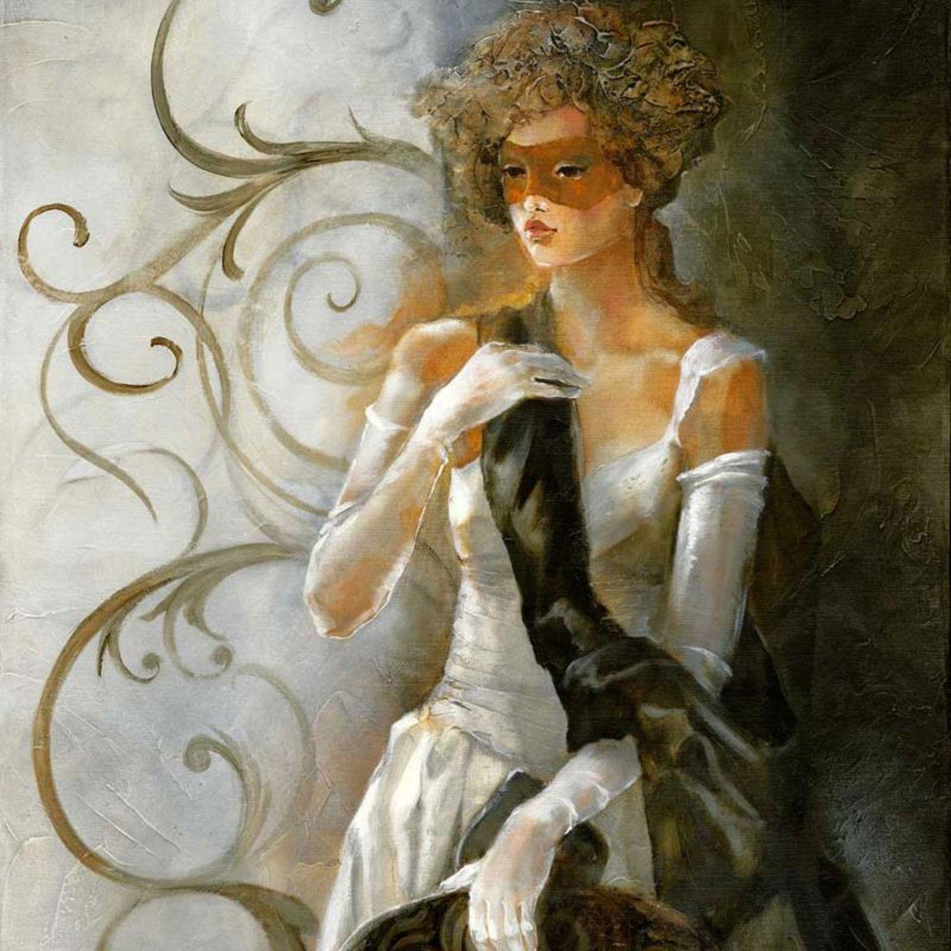 """Lena Sotskova, """"Debutant"""" Hand Signed, Artist Embellished Limited Edition Giclee - Image 2 of 2"""