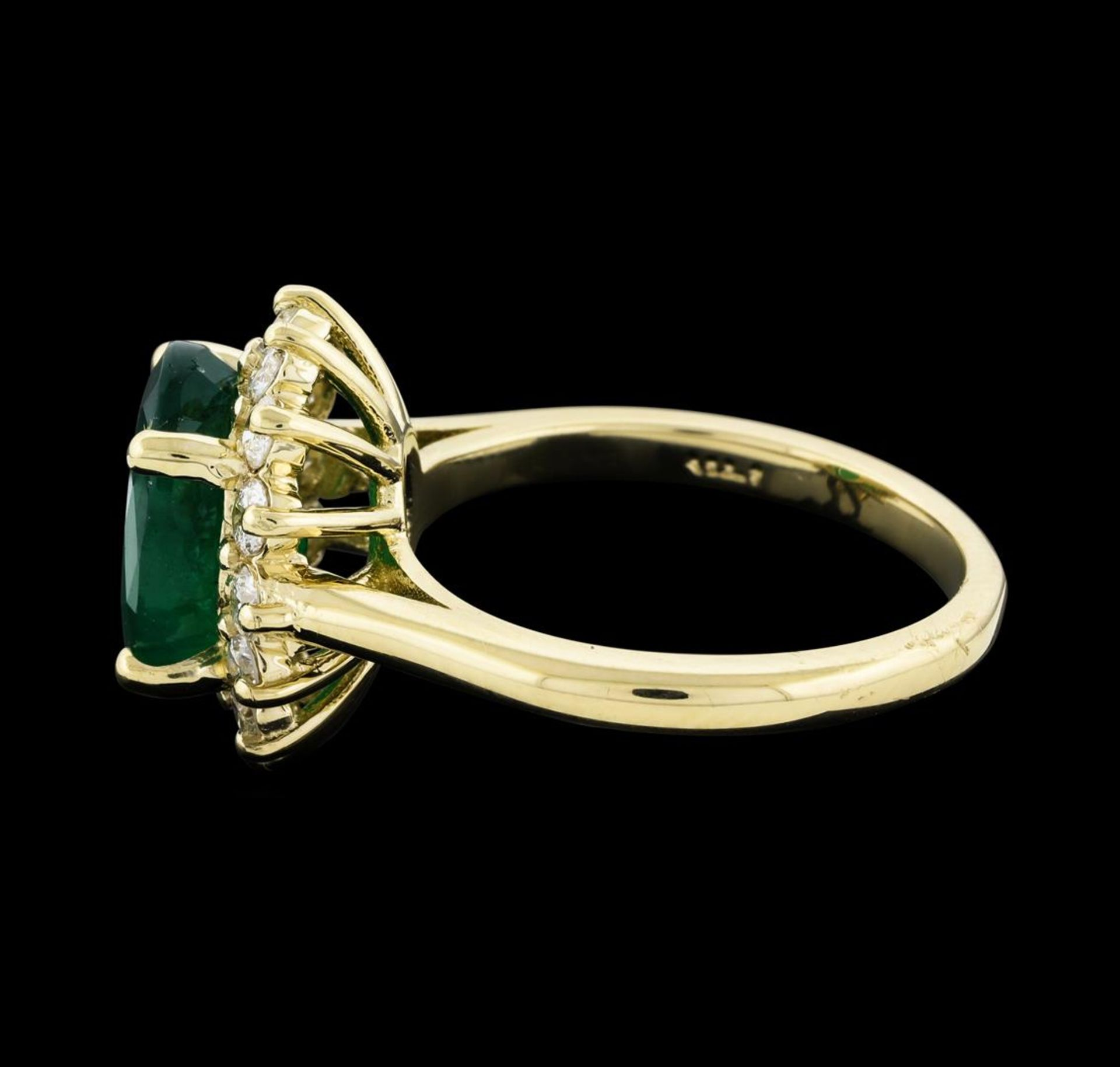 3.40 ctw Emerald and Diamond Ring - 14KT Yellow Gold - Image 3 of 5