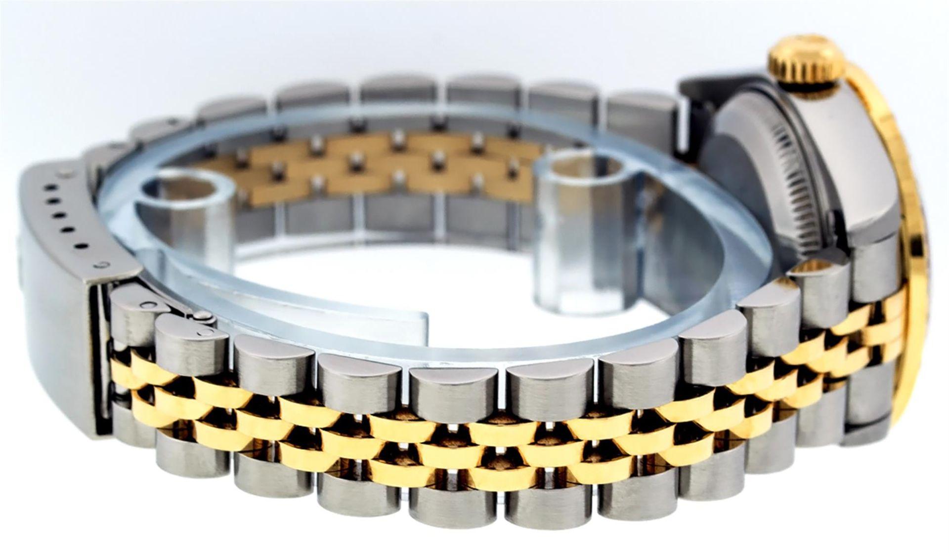 Rolex Ladies 2 Tone 18K Champagne String Diamond Lugs Datejust Wristwatch - Image 3 of 7