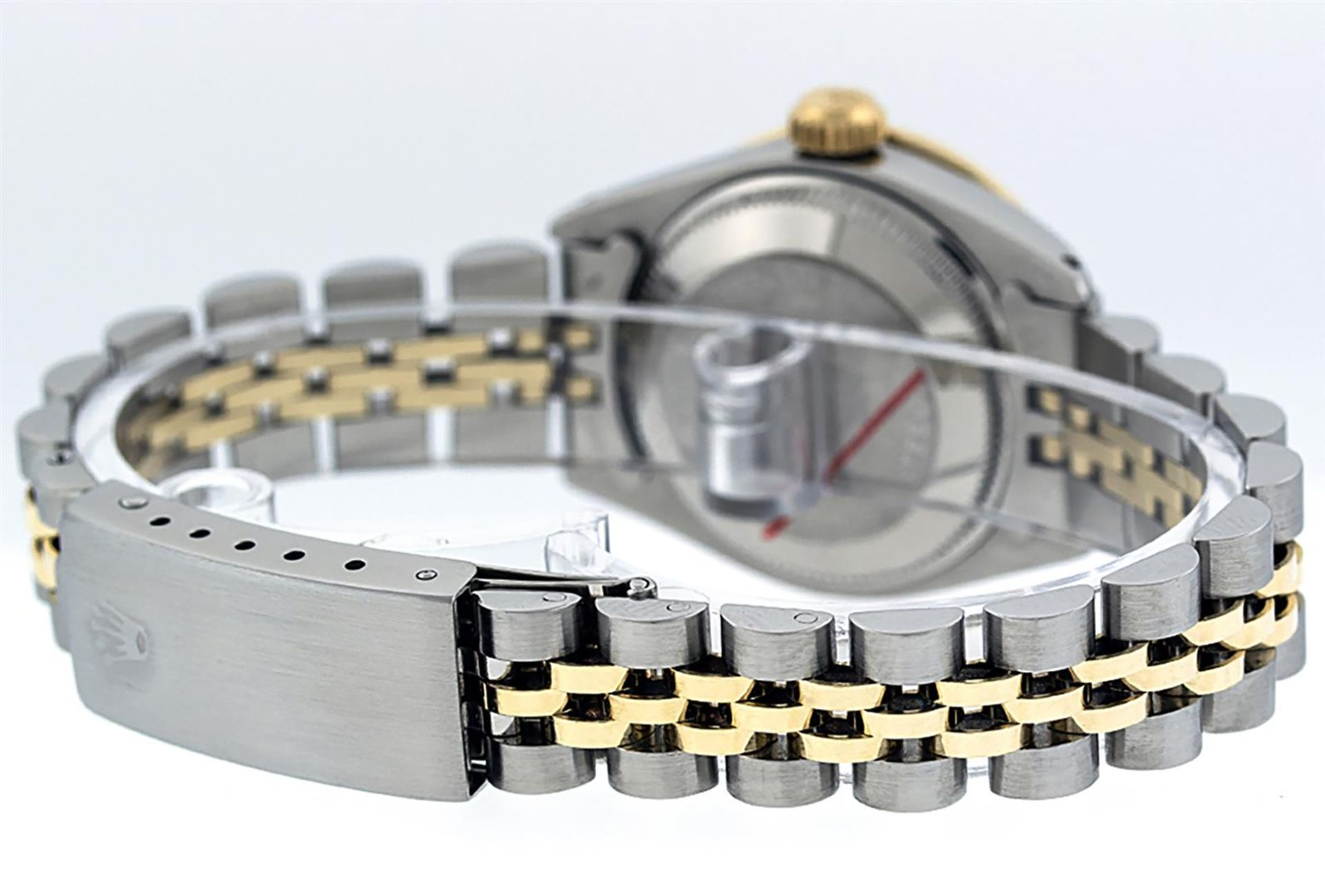 Rolex Ladies 2T 26 MOP Diamond & Sapphire Oyster Perpetual Datejust Serviced - Image 6 of 9